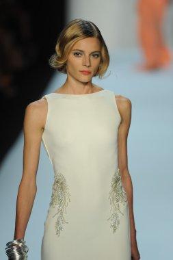 Model at Badgley Mischka fashion show