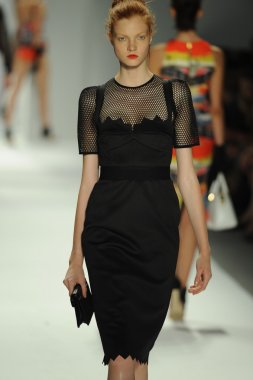 Model at Milly By Michelle Smith fashion show