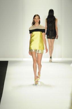 Model at J. Mendel fashion show