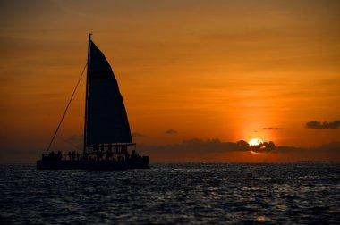 Famous sunset at Key West, FL
