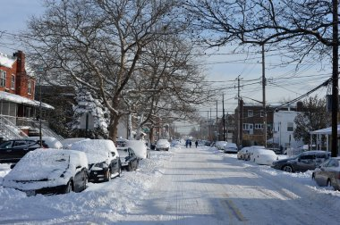 Streets in Brooklyn after snow storm