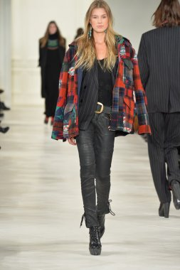 Model at Ralph Lauren fashion show
