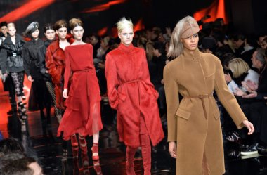 Models walk runway at Donna Karan New York