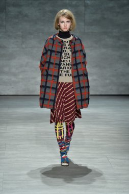 Model at Libertine fashion show