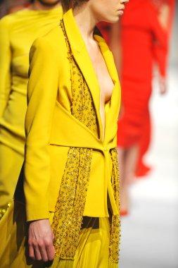 Models at Ozgur Masur fashion show