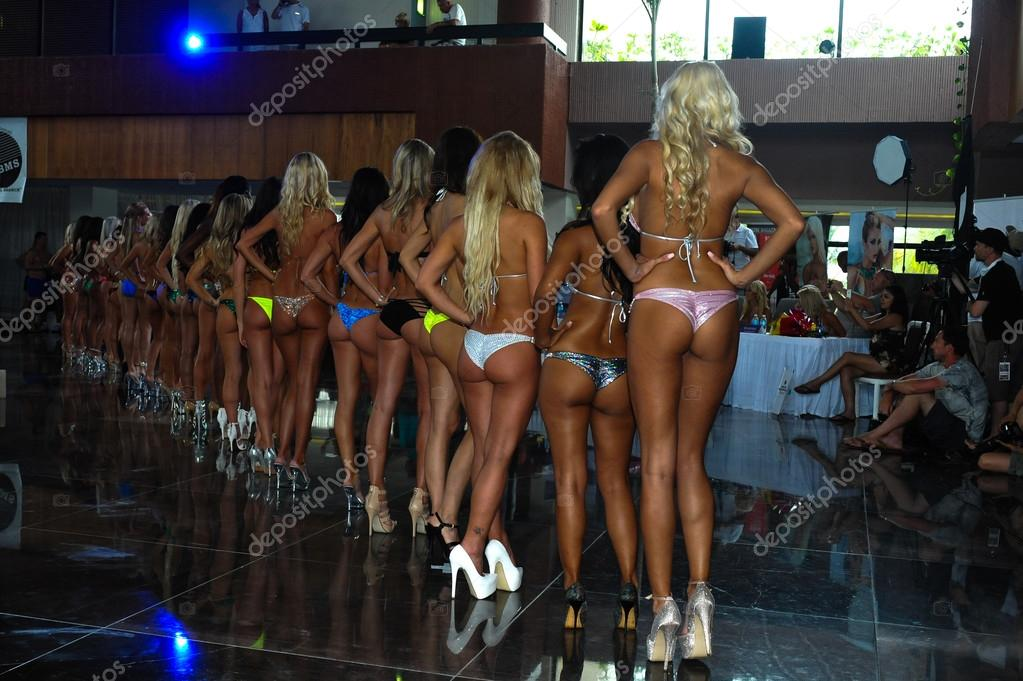 Models during International Bikini Model Search