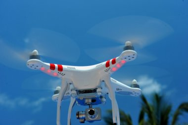 Quadcopter with mounted video camera