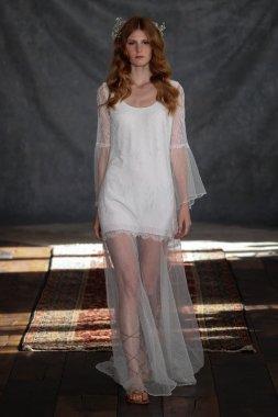Model at Claire Pettibone collection show
