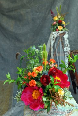 Bridal floral arrangements.