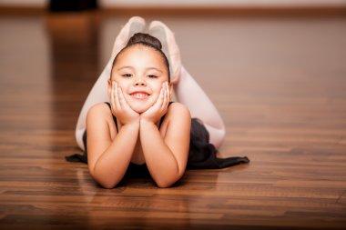Happy ballerina girl