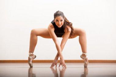 Ballet dancer rehearsing