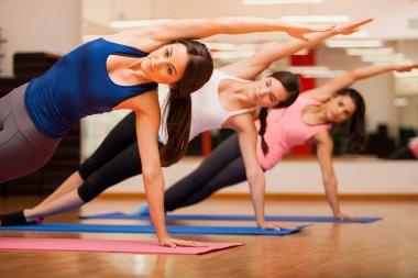 Girls gymnastics at the gym