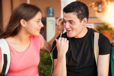 Flirting in high school