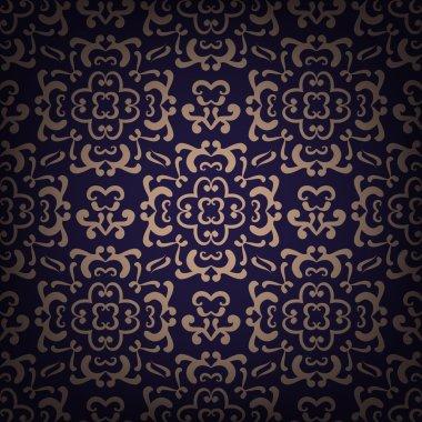 Ornamental damask pattern