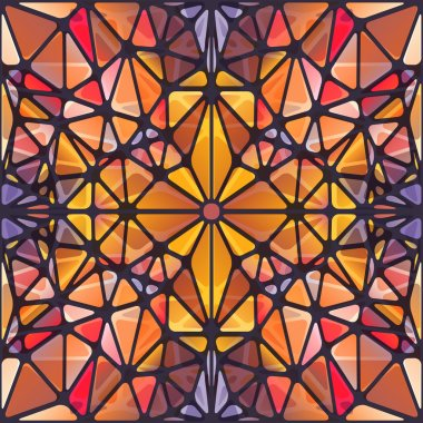 Abstract background with triangle pattern looking like stained glass