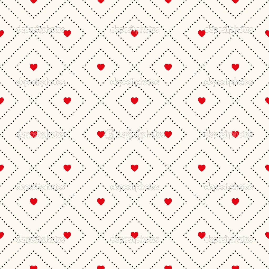 patrones retro sin fisuras Vector con corazones — Vector de stock ...