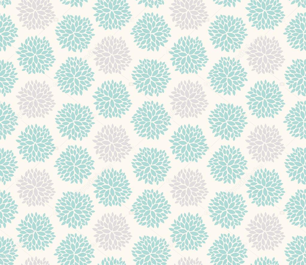 Seamless floral geometric pattern.
