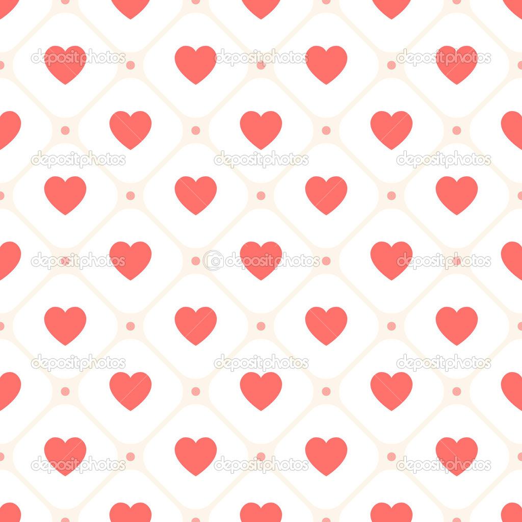 Vectores: patron de corazones | patrones retro sin fisuras Vector ...