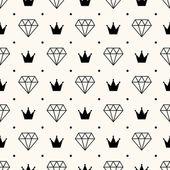 vektorové retro vzor bezešvé, s diamanty