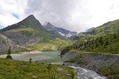 hory, ledovce a pastviny rakouské Alpy
