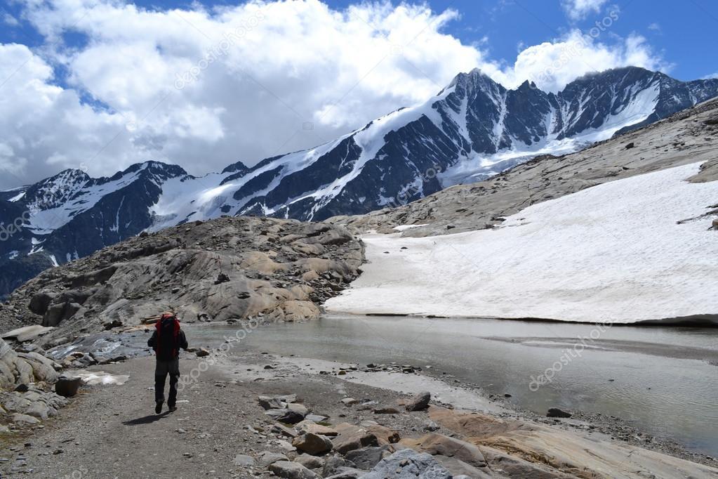 Mountains Austrian Alps Glacier Pasterze