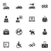 Fotografie Hotel-Service und Einrichtungen-Icons - set 1