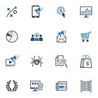 SEO & Internet Marketing Icons Set 3 - Blue Series