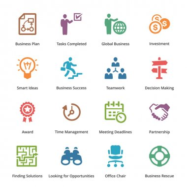 Business Icons Set 3 - Colored Series