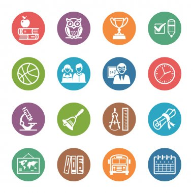 School and Education Icons Set 3 - Dot Series