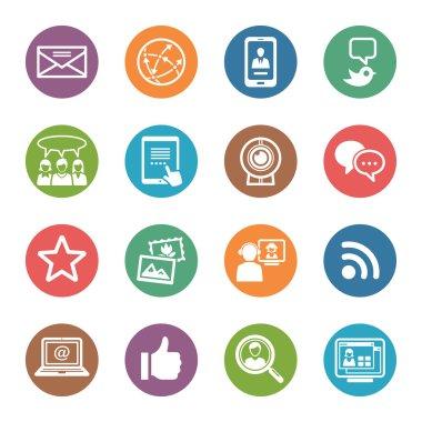 Social Media Icons Set 1 - Dot Series