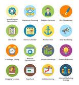 SEO  internetový marketing ploché ikony nastavit 5 - série bublina
