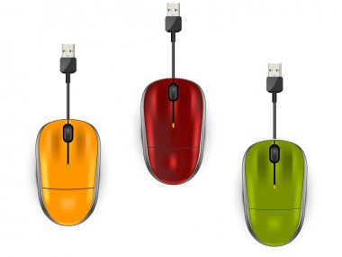 three color computer mouse