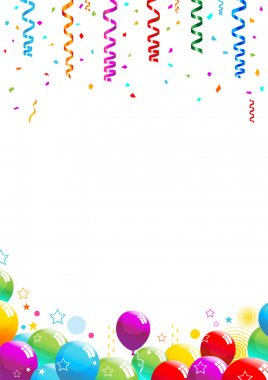 Confetti and Balloons Illustration 10 document
