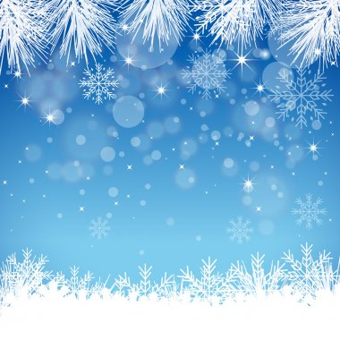 Blue Snowflake Background - Illustration