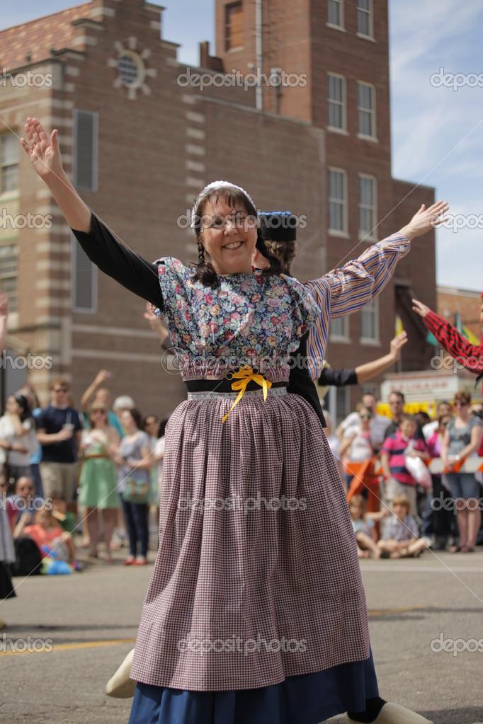 Dutch Dancers in Holland Michigan – Stock Editorial Photo