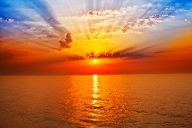 """Картина, постер, плакат, фотообои """"восход солнца в море """", артикул 13620863"""