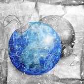 země a měsíc v podobě vánoční koule