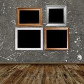 frames in vintage room