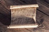 Fotografia vecchia carta su legno sfondo