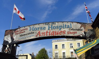 Horse Hospital Antiques Sign, London