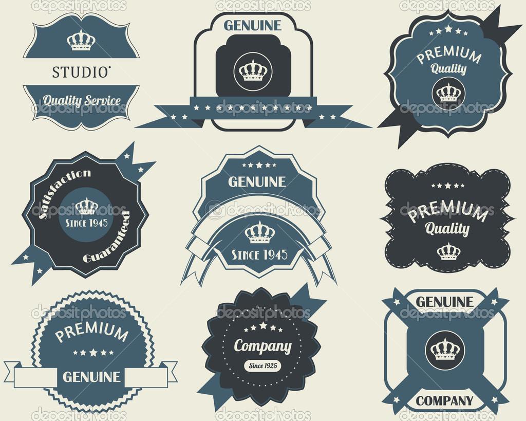 Retro labels design vintage sticker stock vector