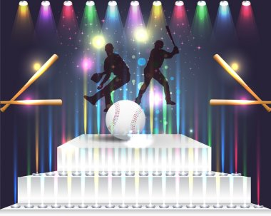 Baseball in Podium Vector Design Abstract Background