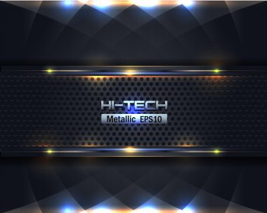 Hi-Tech Metallic Background Vector Design