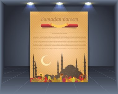 Vintage Style Cover Vector Template Ramadan