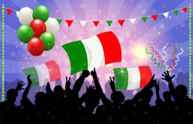 National Celebration Vector Italy