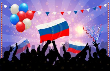 National Celebration Vector Russia