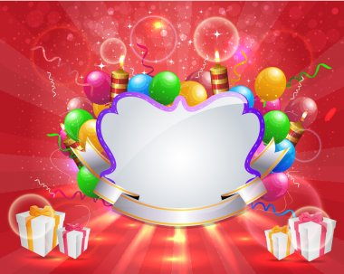 Vector Illustration of Happy Birthday Card Design