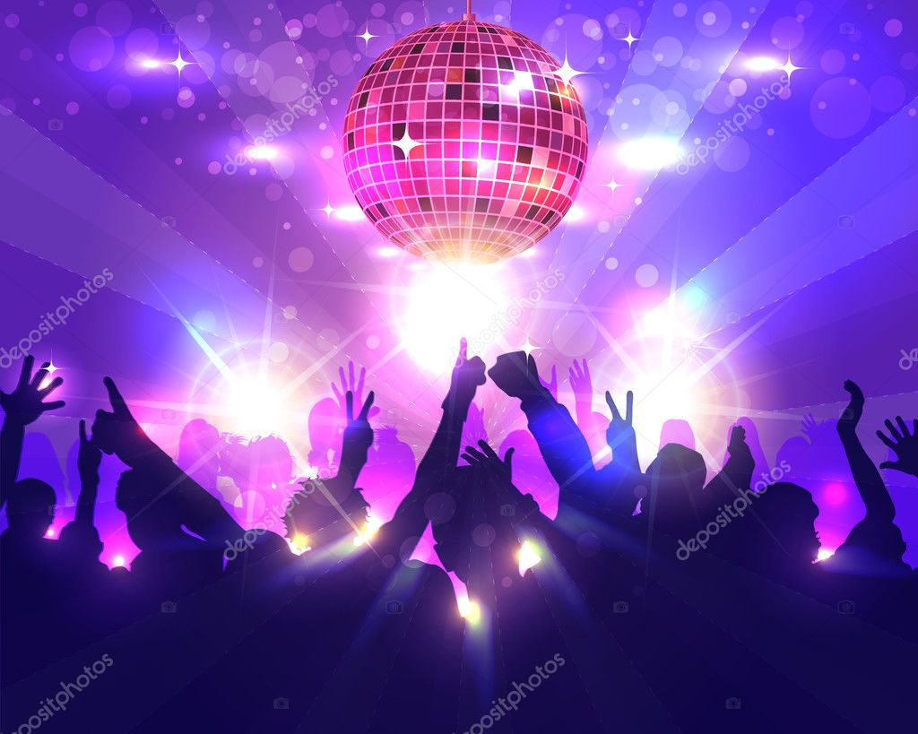 dance party background flyer templates design stock vector