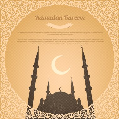 Ramadan Kareem Vector Design Old Paper Background