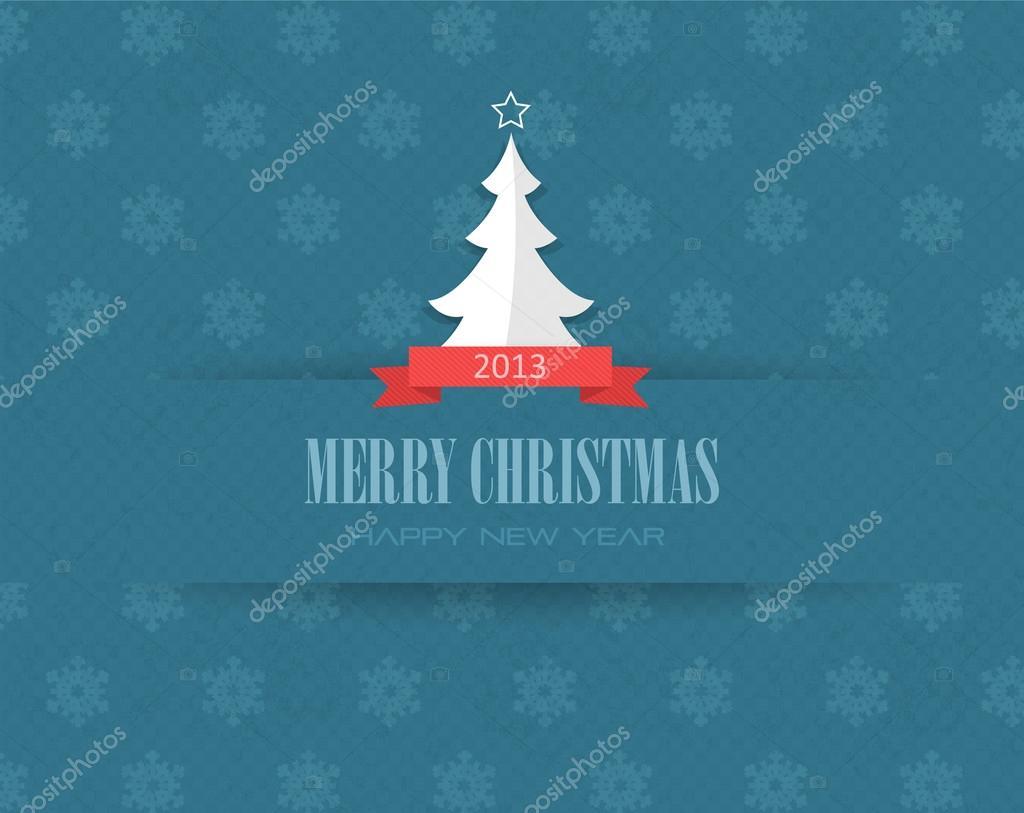 Abstract christmas tree vector design